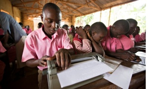 Children studying at Bishop Willis school in Iganga, eastern Uganda.